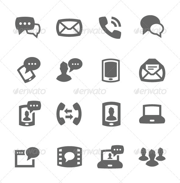 GraphicRiver Communication Icons 7565045
