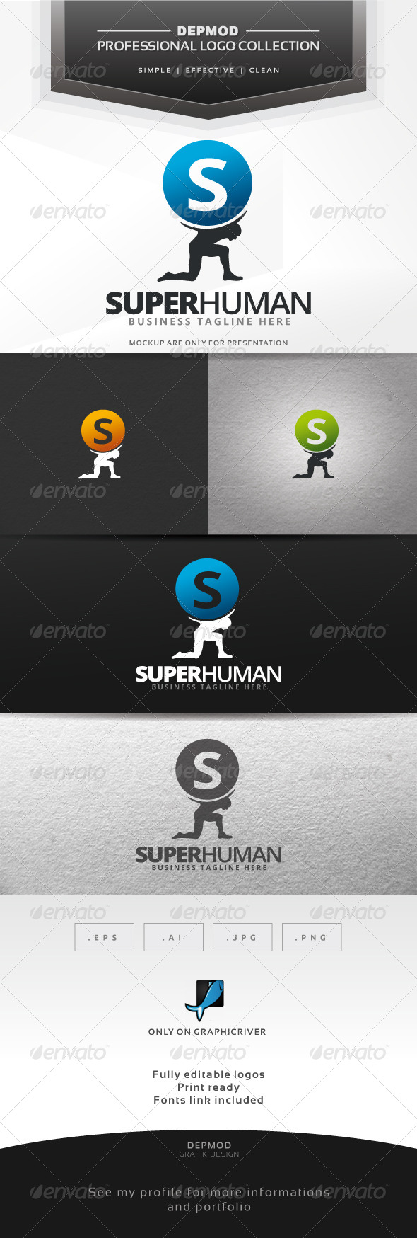 GraphicRiver Super Human Logo 7565308