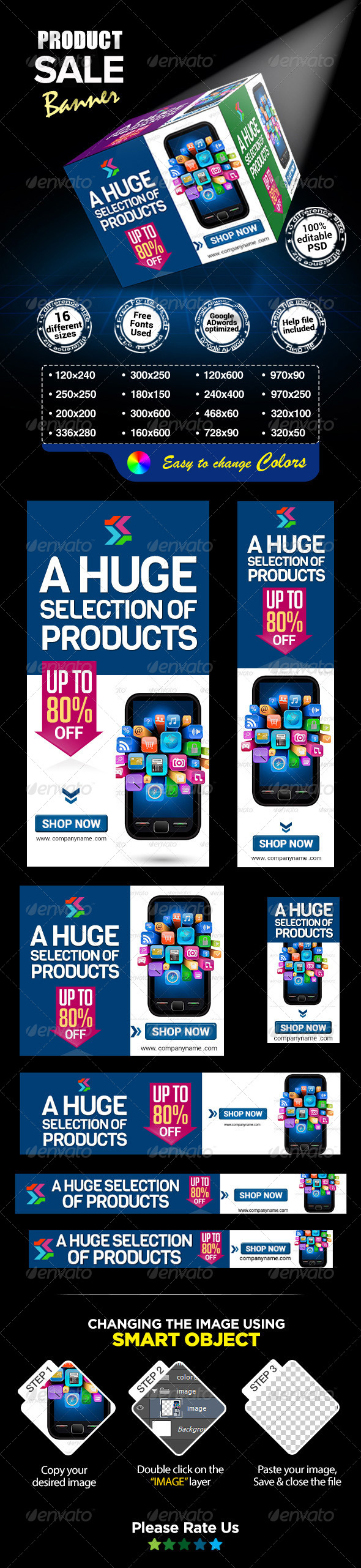GraphicRiver Product Sale Banners 7490034