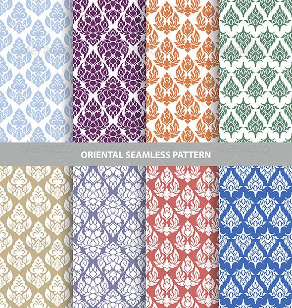 GraphicRiver Oriental Seamless Patterns 7565757