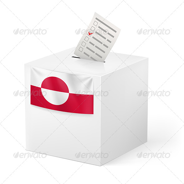 GraphicRiver Ballot Box with Voting Paper Greenland 7566428