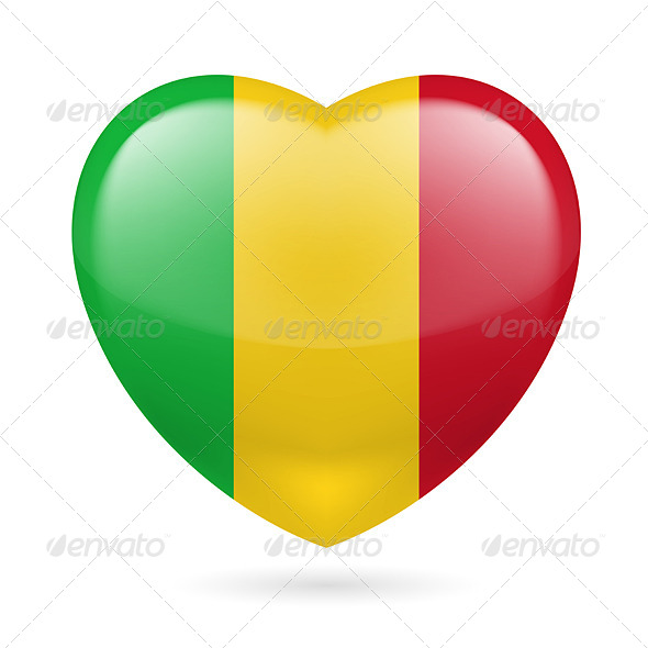 GraphicRiver Heart Icon of Mali 7567322