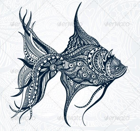 GraphicRiver Abstract Fish 7568015