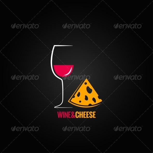 GraphicRiver Wine and Cheese Design Background 7568286