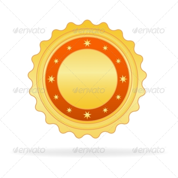 GraphicRiver Golden Badge 7568436