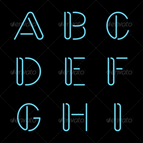 GraphicRiver Neon Letters 7568500