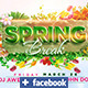 Spring Break Facebook Template  - GraphicRiver Item for Sale