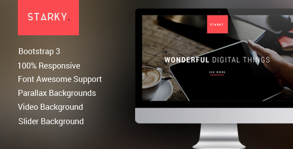 ThemeForest Starky Responsive One Page Parallax 7502805