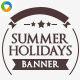 Summer Holiday Package Banners - GraphicRiver Item for Sale