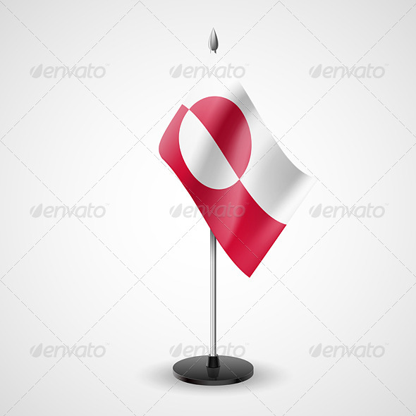 GraphicRiver Table Flag of Greenland 7569222