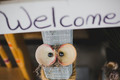 cute welcome sign with shell eyes - PhotoDune Item for Sale