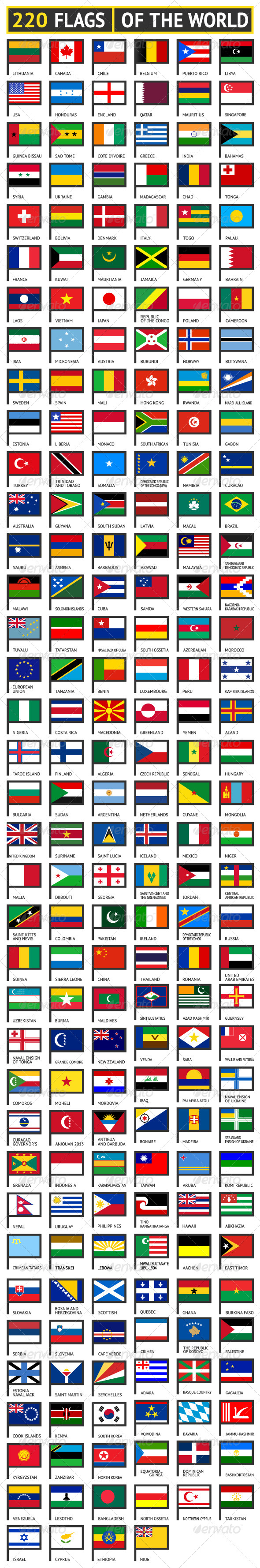 GraphicRiver 220 Flags of World 7570406