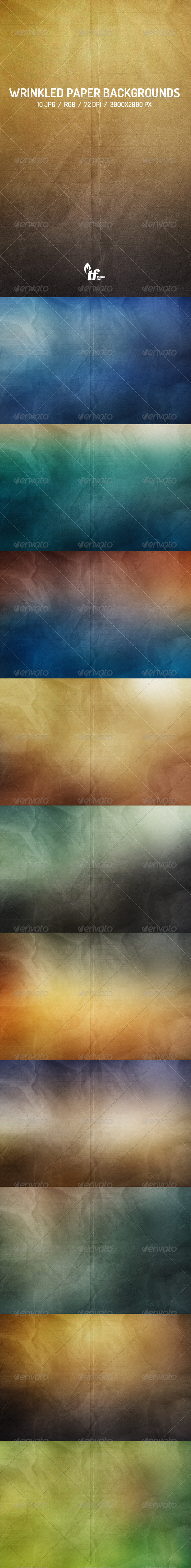 GraphicRiver Wrinkled Paper Backgrounds 7570616