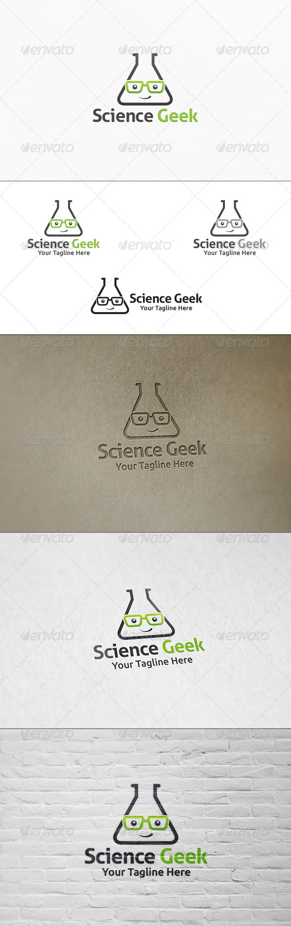 GraphicRiver Science Geek Logo Template 7571016