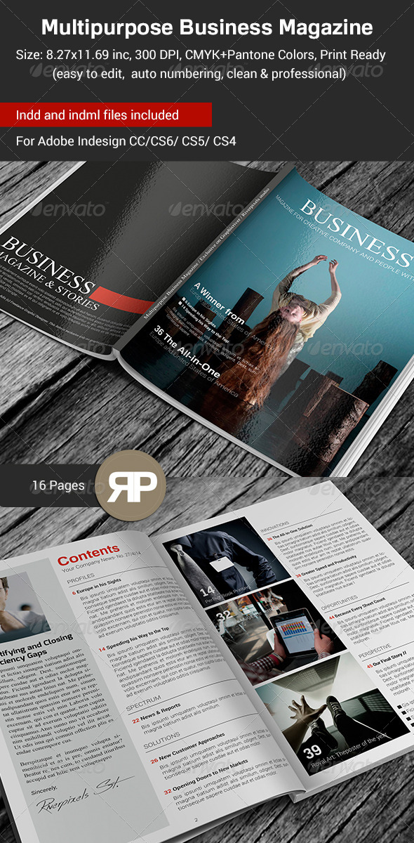 GraphicRiver Multipurpose Business Magazine Template 7571487