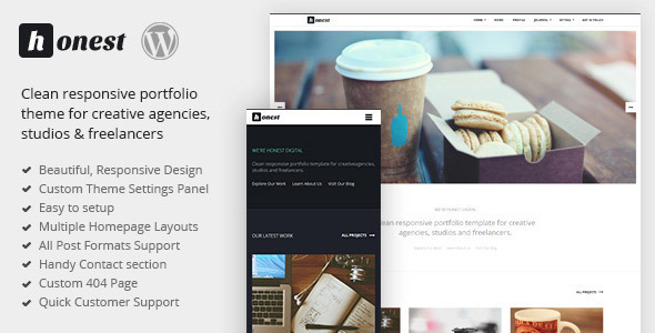 ThemeForest Honest Clean Responsive Portfolio & Blog Theme 7500903