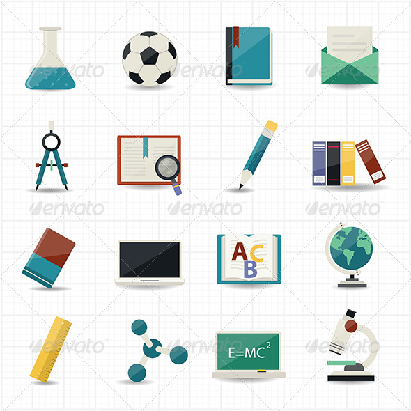 GraphicRiver Education and Science Icons 7571979