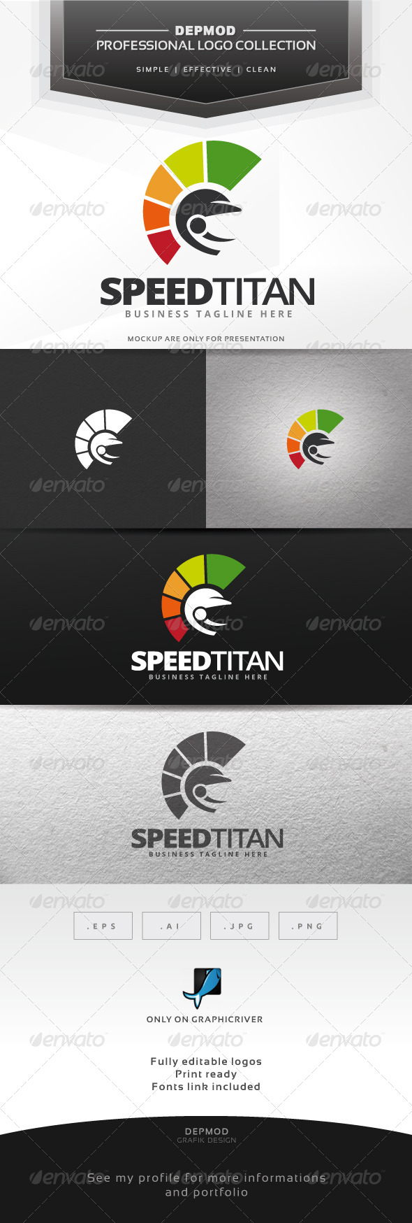 GraphicRiver Speed Titan Logo 7572210