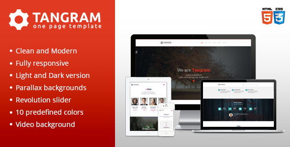 ThemeForest Tangram Clean One Page Parallax Template 7512925