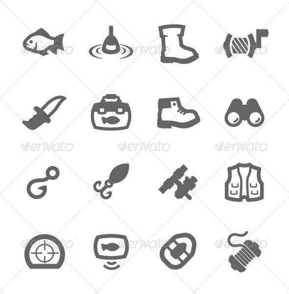 GraphicRiver Fishing Icons 7573463