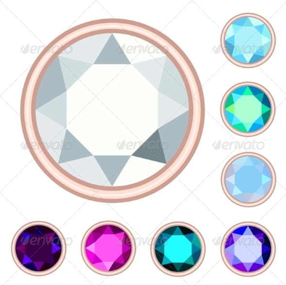 GraphicRiver Circle Gemstone Set 7573651