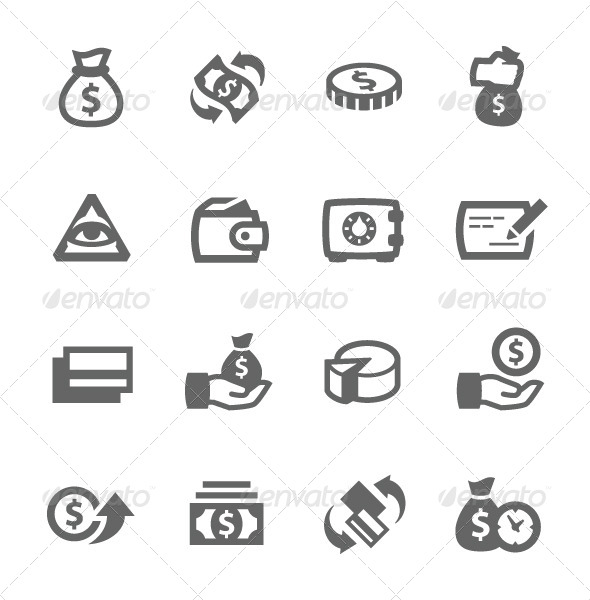 GraphicRiver Money Icons 7573665