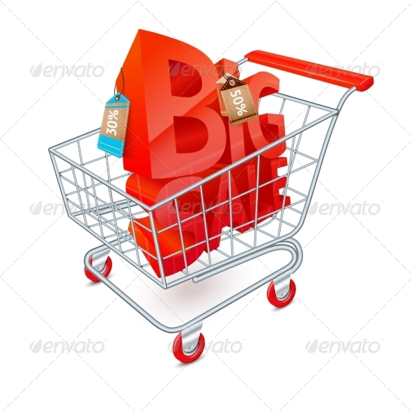 GraphicRiver Shopping Cart Sale Emblem 7573736