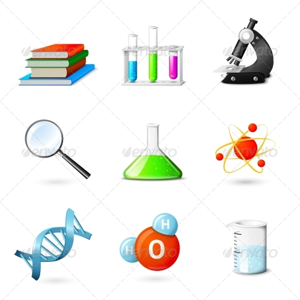GraphicRiver Science Realistic Icons 7573769