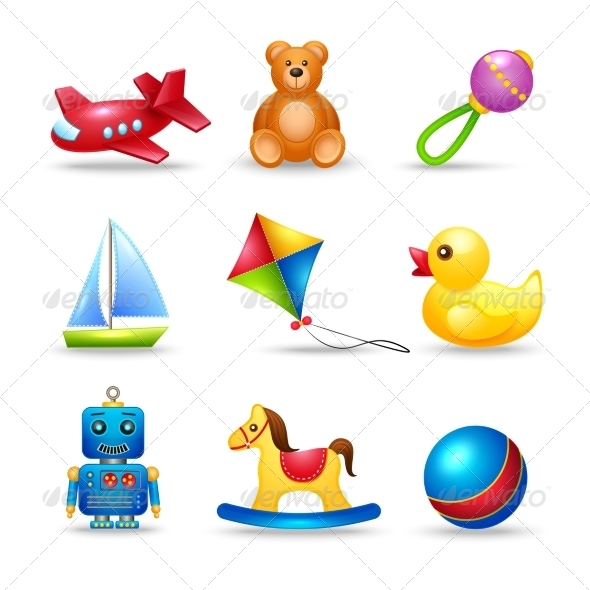 GraphicRiver Baby Toys Icons Set 7573786