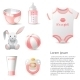 Baby Shower Icons Set - GraphicRiver Item for Sale