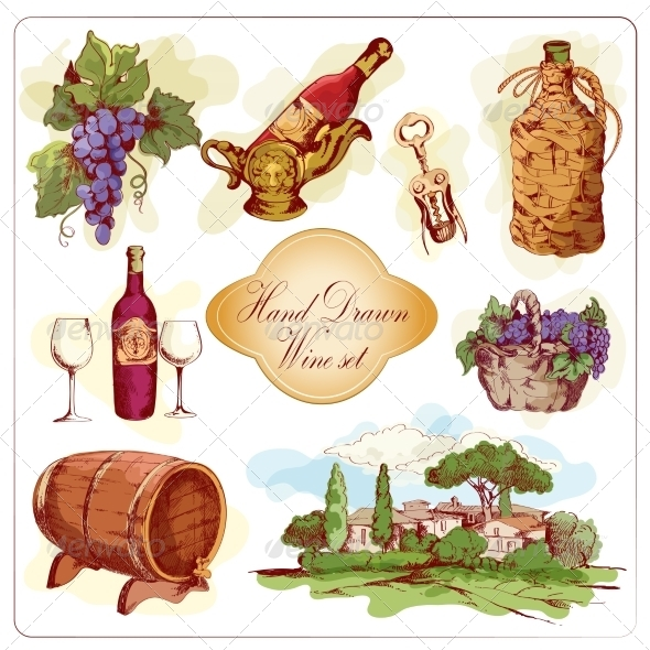 GraphicRiver Wine Colored Icons Set 7573879