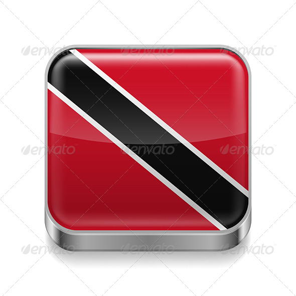 GraphicRiver Metal Icon of Trinidad and Tobago 7573920