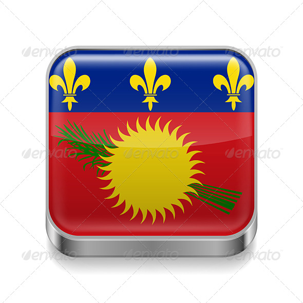 GraphicRiver Metal Icon of Guadeloupe 7573934