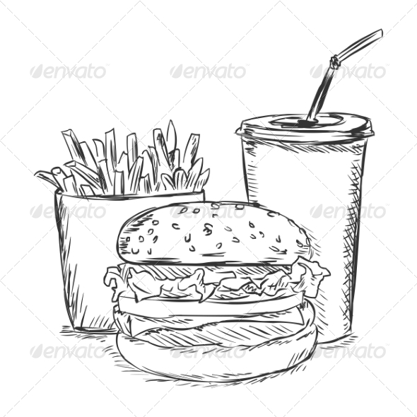 GraphicRiver Fast Food Sketch 7573954