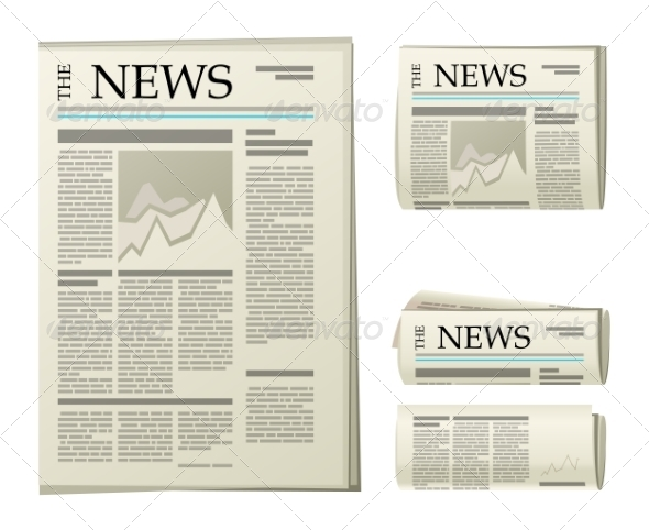 GraphicRiver Newspaper Icons 7573966