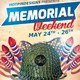 Memorial Day Event Flyer Template - GraphicRiver Item for Sale