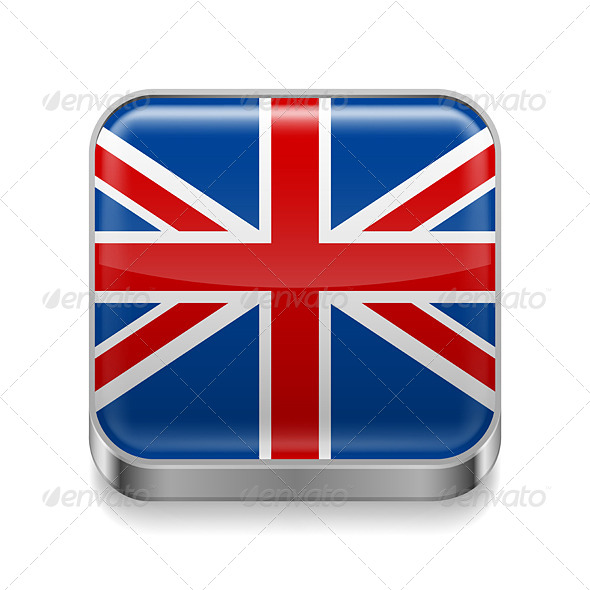 GraphicRiver Metal Icon of United Kingdom 7574356