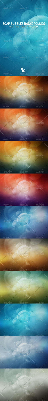 GraphicRiver Soap Bubbles Backgrounds 7574691