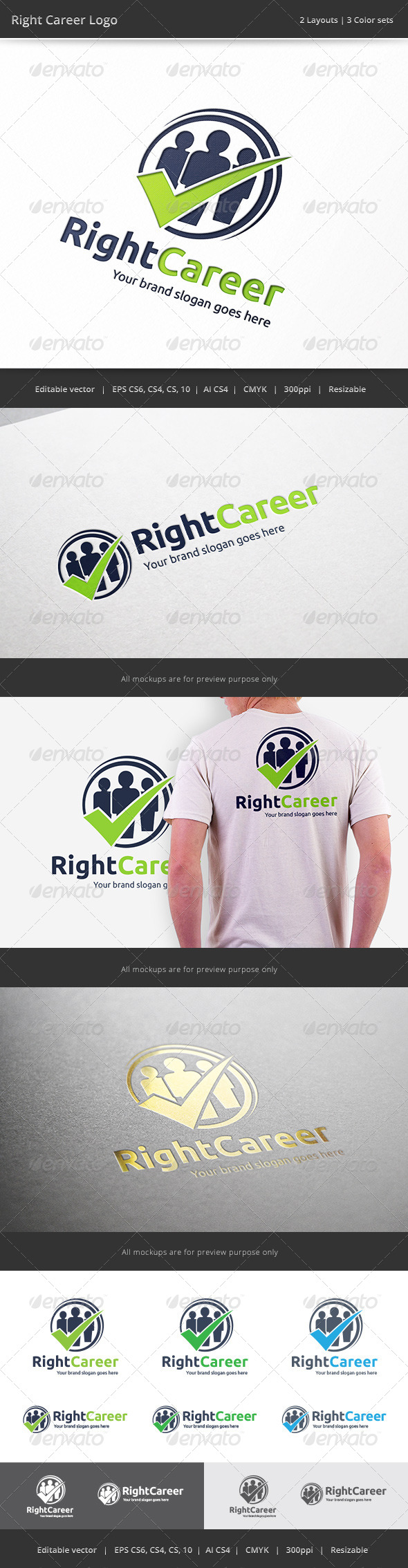 GraphicRiver Right Career Job Logo 7574779