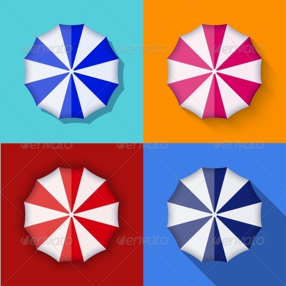 GraphicRiver Modern Umbrella Icons Set 7575086