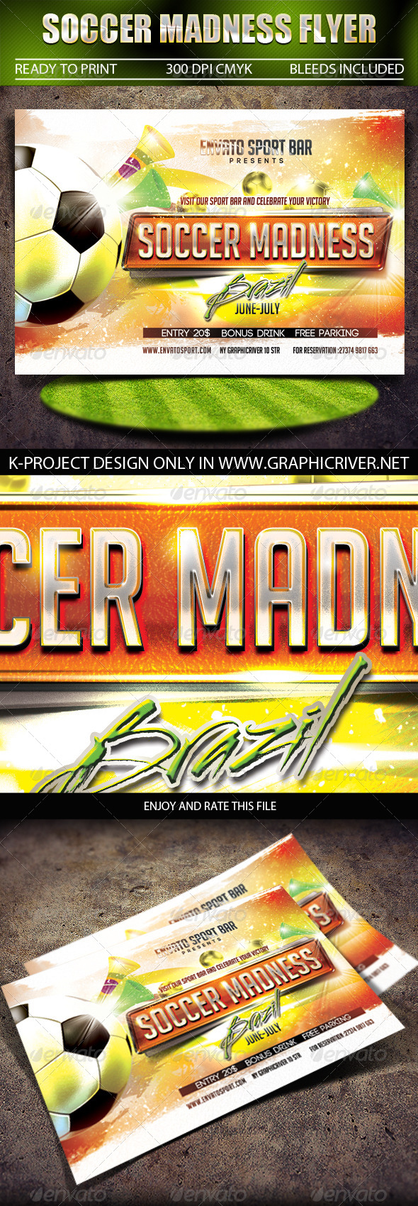 GraphicRiver Soccer Madness Flyer 7575304