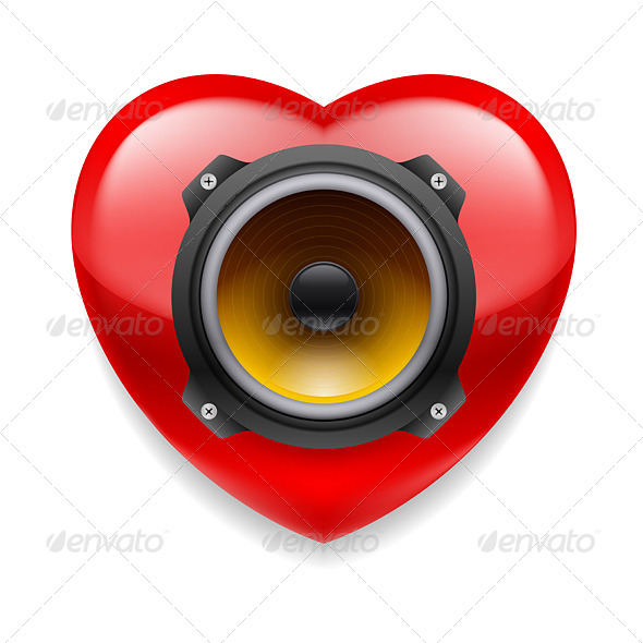 GraphicRiver Favorite Music Icon 7575306