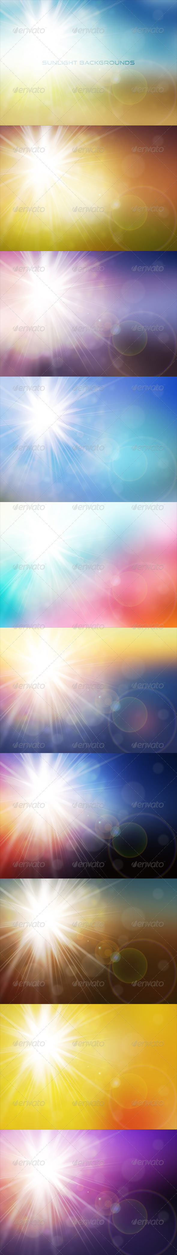 GraphicRiver Colorful Sunlight Backgrounds 7575563