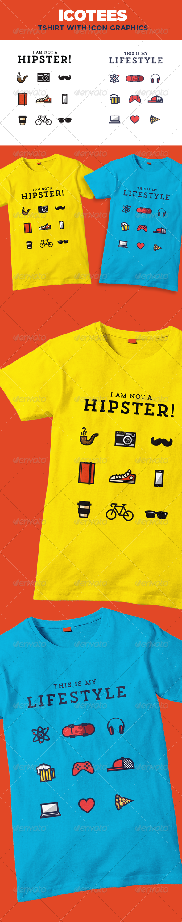 GraphicRiver iCotees Tshirt with Icon Graphics 7575581