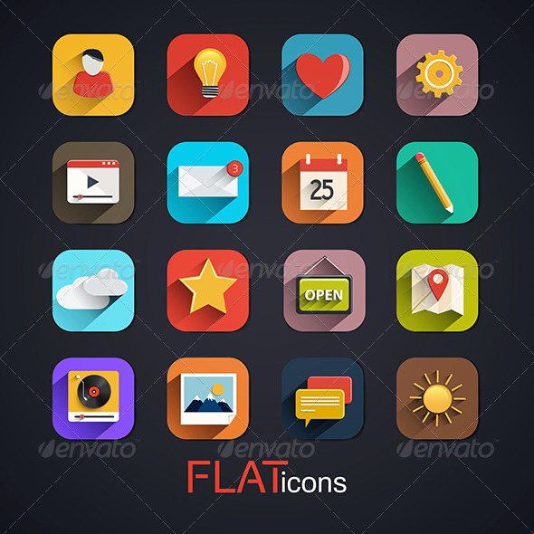 GraphicRiver Modern Flat Icons Vector Collection 7576167