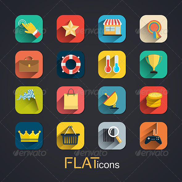GraphicRiver Modern Flat Icons Collection 7576194