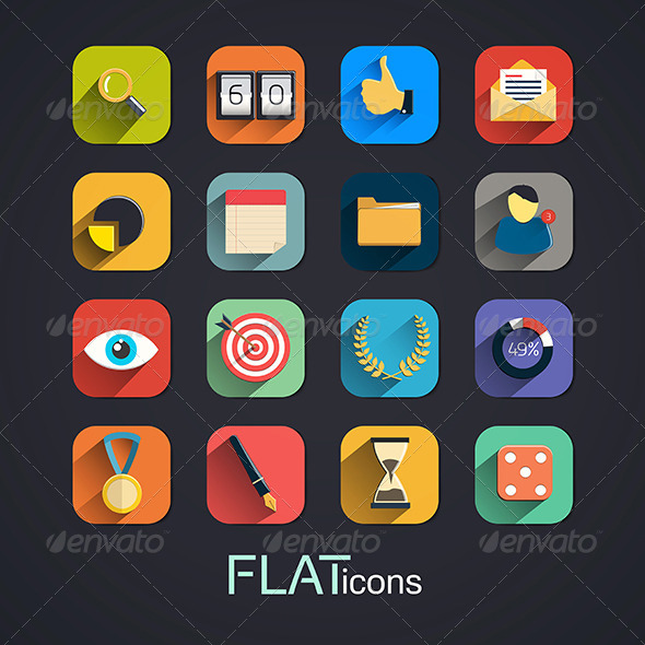 GraphicRiver Modern Flat Icons Collection 7576197