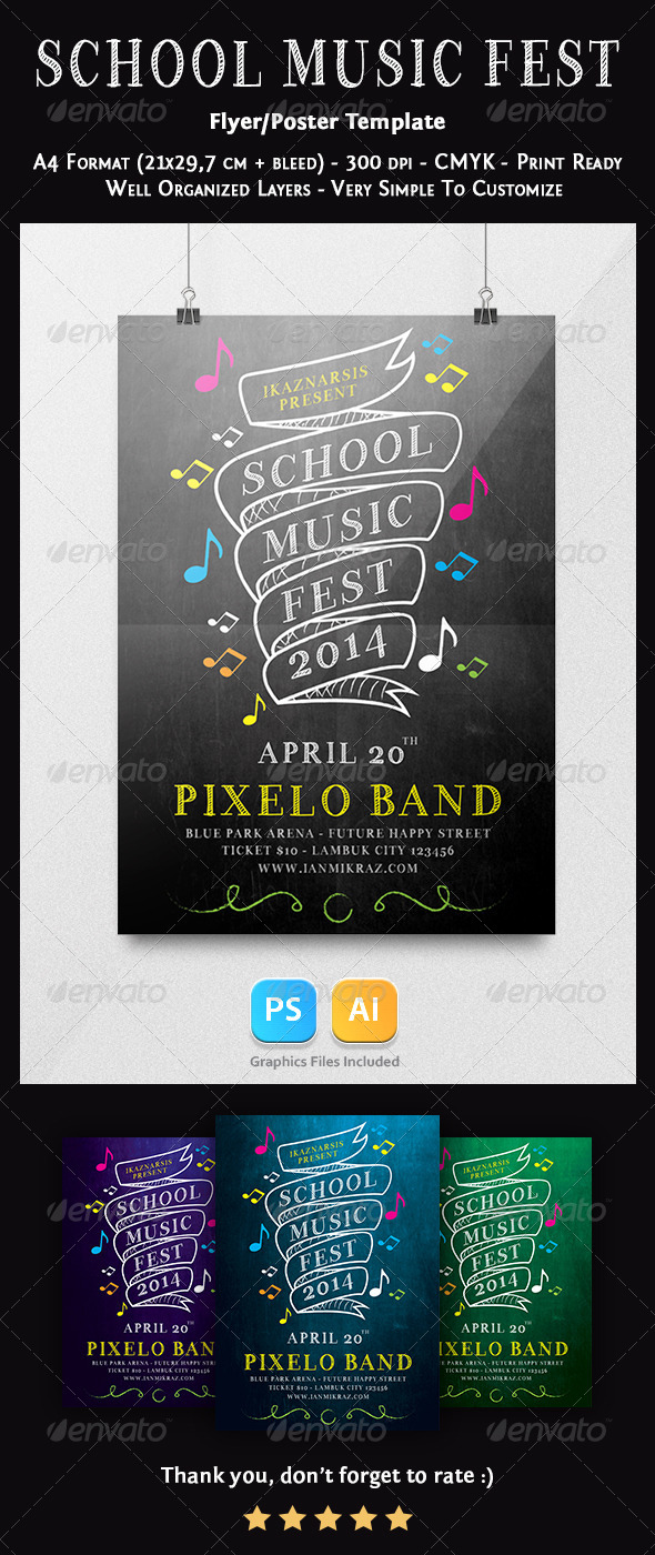 GraphicRiver School Music Festival Flyer Templates 7559110