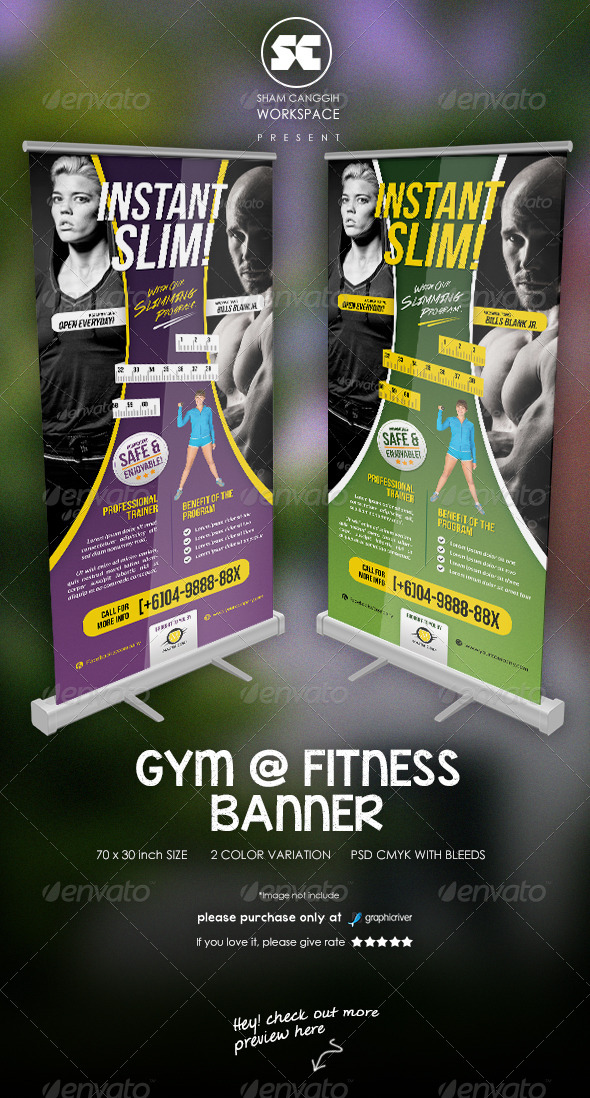 GraphicRiver Fitness And Gym Banner 7576799
