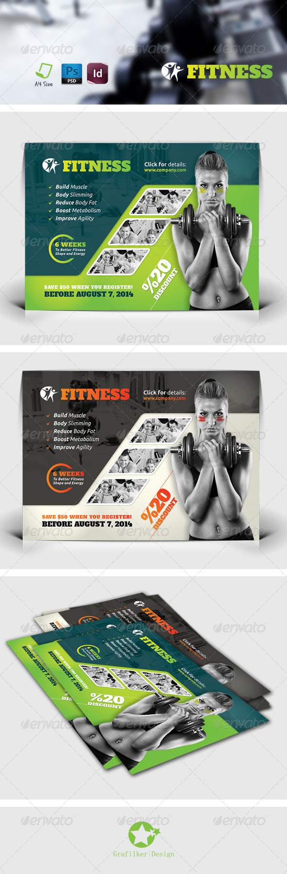 GraphicRiver Fitness Salon Flyer Templates 7577031